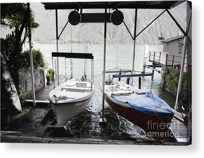 Bots Acrylic Print featuring the photograph Two Hanging Boats by Mats Silvan