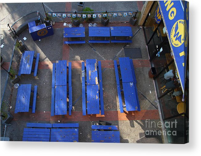 The Bears Lair Pub Acrylic Print featuring the photograph Uc Berkeley . Bears Lair Pub . 7d10010 by Wingsdomain Art and Photography
