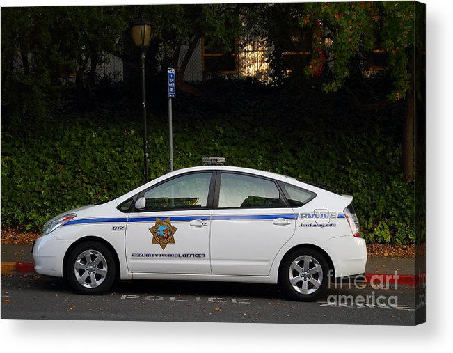Ucb Campus Police Car Acrylic Print featuring the photograph Uc Berkeley Campus Police Car . 7d10181 by Wingsdomain Art and Photography