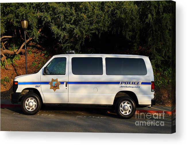 Ucb Campus Police Car Acrylic Print featuring the photograph Uc Berkeley Campus Police Van . 7d10180 by Wingsdomain Art and Photography