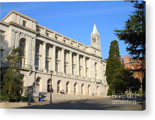 Architecture Acrylic Print featuring the photograph Uc Berkeley . Sather Tower Campanile . Wheeler Hall . South Hall Built 1873 . 7d10043 by Wingsdomain Art and Photography