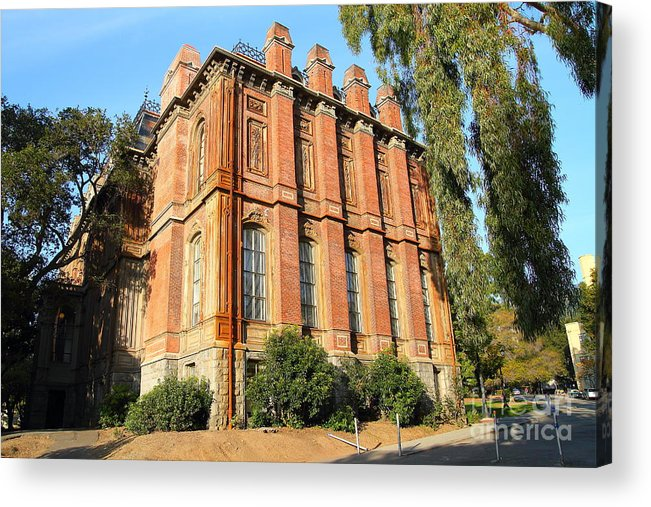 Architecture Acrylic Print featuring the photograph Uc Berkeley . South Hall . Oldest Building At Uc Berkeley . Built 1873 . 7d10113 by Wingsdomain Art and Photography