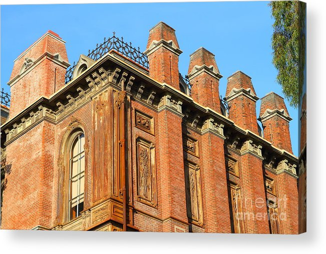 Architecture Acrylic Print featuring the photograph Uc Berkeley . South Hall . Oldest Building At Uc Berkeley . Built 1873 . 7d10114 by Wingsdomain Art and Photography