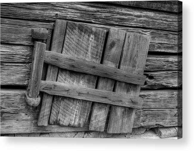 2010 Acrylic Print featuring the photograph Unhinged by Charles Warren