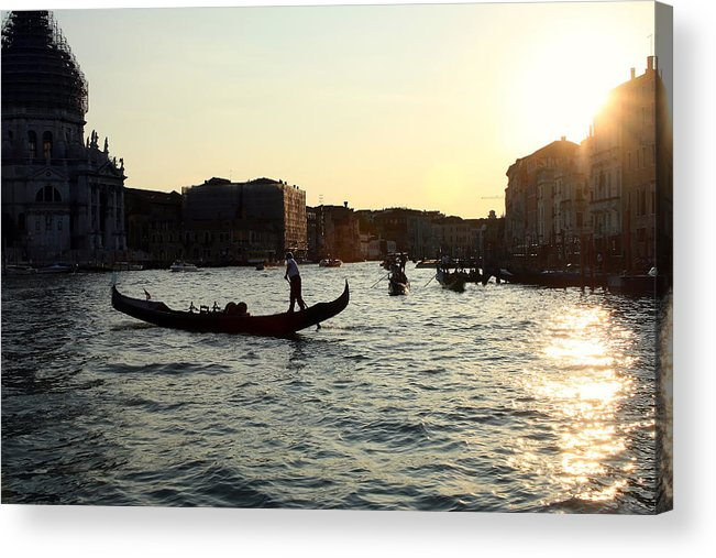 Venice Acrylic Print featuring the photograph Venice Sunset by Joe Myeress