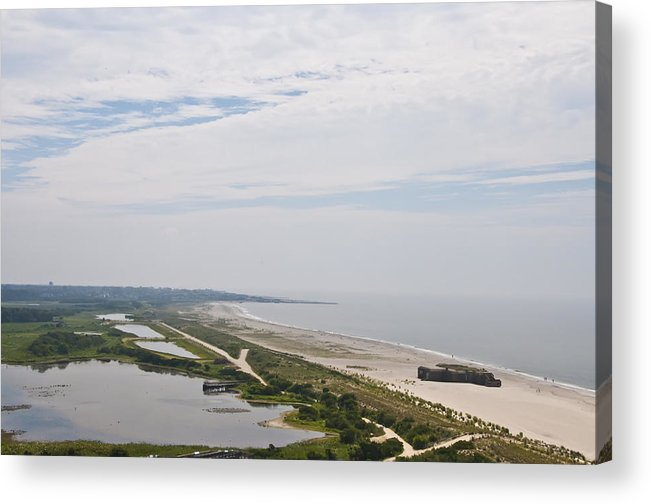 View Of Cape May From Atop The Lighthouse Acrylic Print featuring the photograph View Of Cape May From Atop The Lighthouse by Bill Cannon