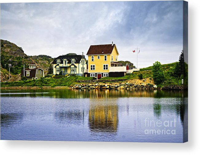Fishing Acrylic Print featuring the photograph Village In Newfoundland by Elena Elisseeva