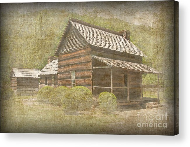 Photograph Acrylic Print featuring the photograph Vintage Davis House by Bob and Nancy Kendrick