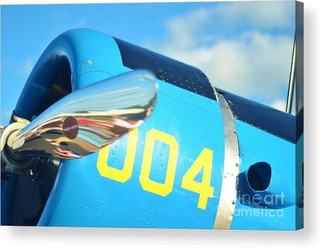 Vultee Bt-13 Valiant Acrylic Print featuring the photograph Vultee Bt-13 Valiant Nose by Lynda Dawson-Youngclaus