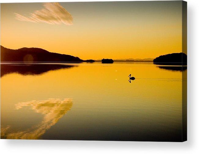 Lake Acrylic Print featuring the photograph Wallis Lake 5521 by Karl Bayer