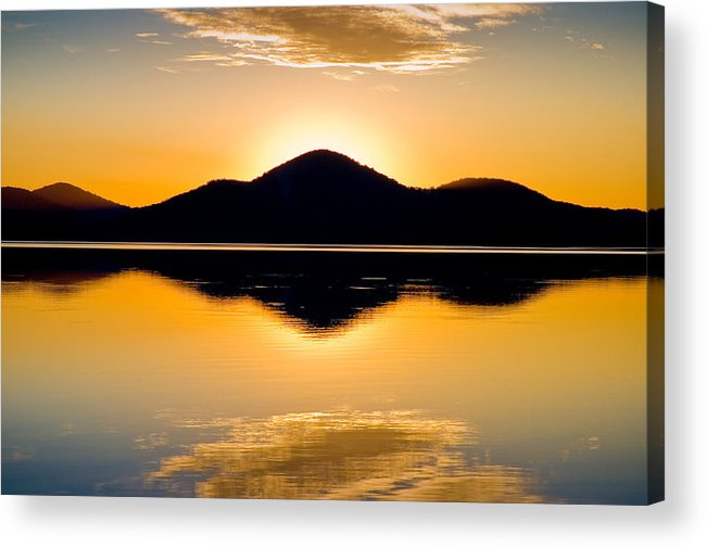 Lake Acrylic Print featuring the photograph Wallis Lake 5527 by Karl Bayer