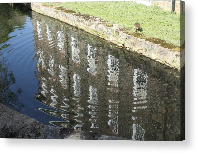 Acrylic Print featuring the photograph Water Reflection by Cameron Minaglia