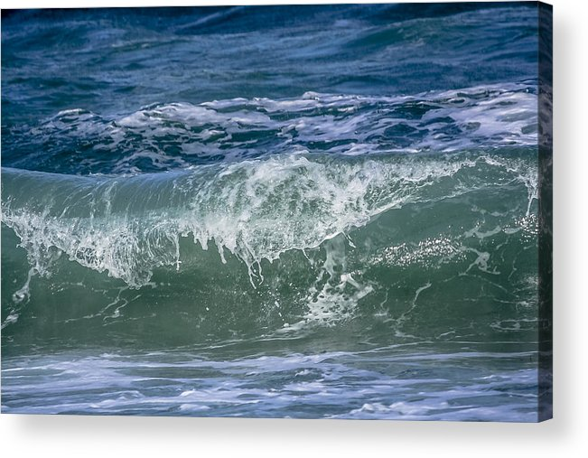 Beach Acrylic Print featuring the photograph Waves by Andrea OConnell