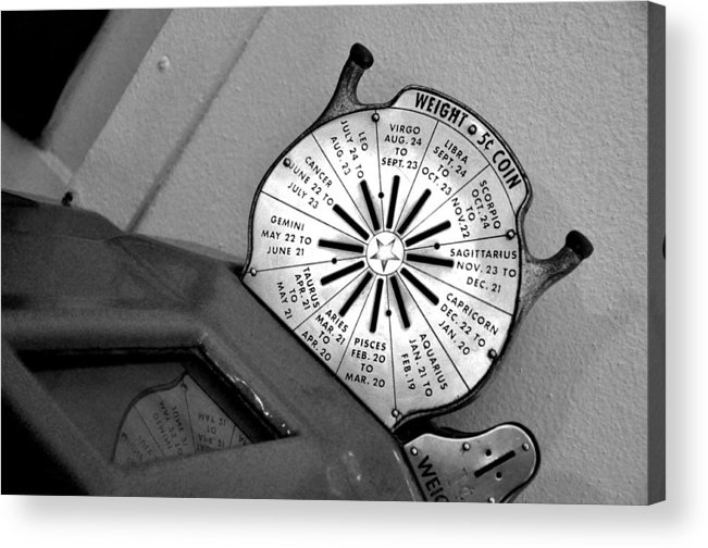 Old-fashioned Acrylic Print featuring the photograph Weight Scale by Colleen Taylor