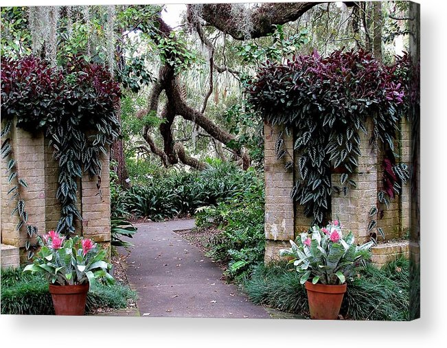 Flowers Acrylic Print featuring the photograph Welcome To My Garden by Paulette Thomas