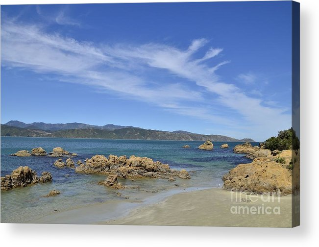 Wellington Acrylic Print featuring the photograph Wellington Beach by Peter Harrison