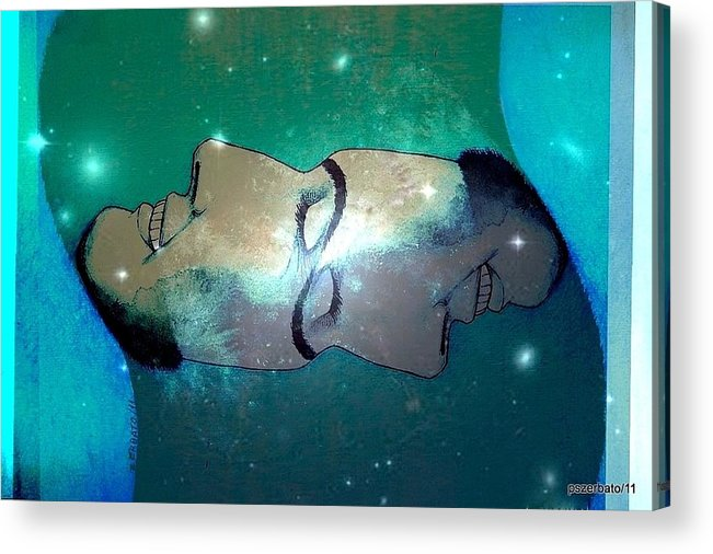 Such As Is Above Acrylic Print featuring the digital art What Is Above Is Like What Is Underneath by Paulo Zerbato