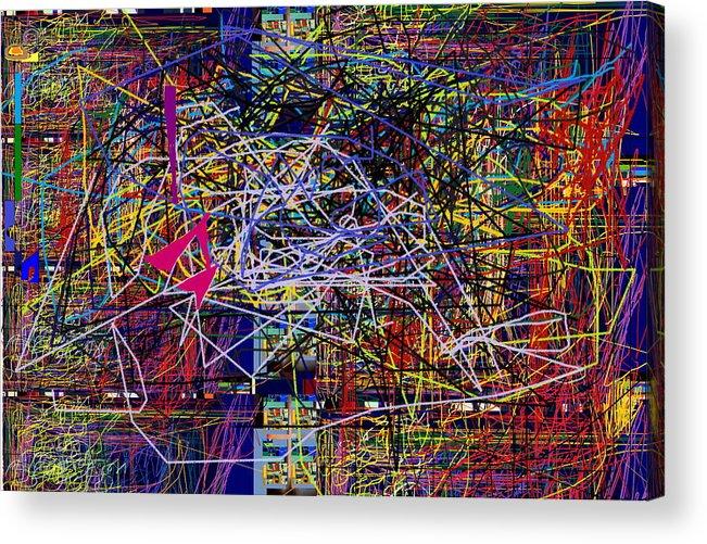 Inner Life Acrylic Print featuring the digital art Window Facing Inward by David Baruch Wolk