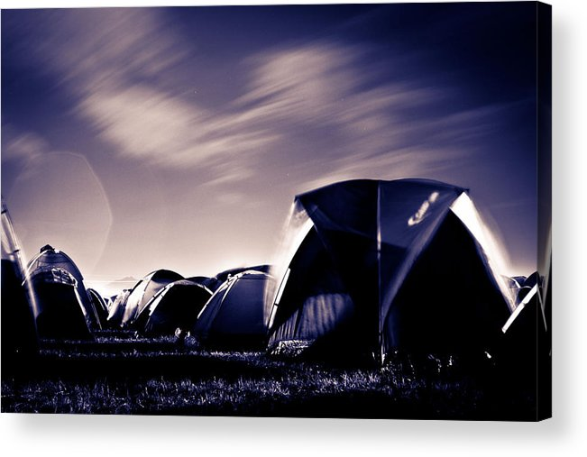 Active Acrylic Print featuring the photograph Windy Night by Natapol Chananuwong