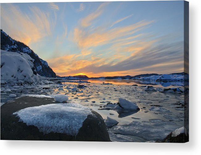 Water Acrylic Print featuring the photograph Winter In The Harbour by Spencer Dove