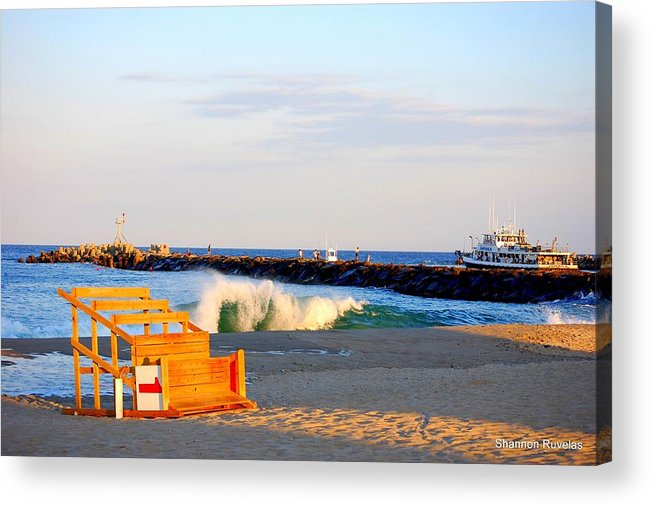Life Guard Stand Acrylic Print featuring the photograph Wish I Was There by Shannon Ruvelas