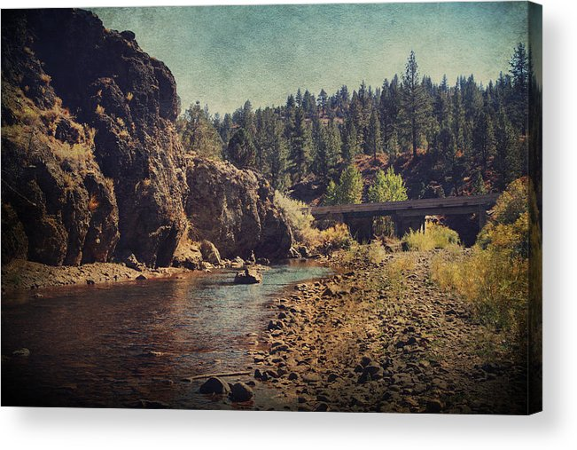 Carson River Acrylic Print featuring the photograph Words Left Unspoken by Laurie Search