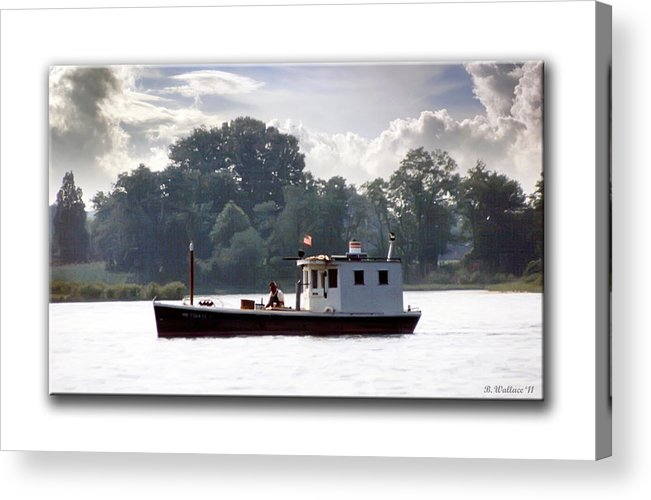 2d Acrylic Print featuring the photograph Workboat by Brian Wallace