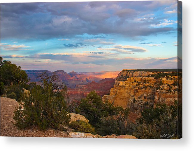 Grand Canyon Acrylic Print featuring the photograph You Draw Me In by Heidi Smith