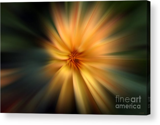 Abstract Acrylic Print featuring the photograph Zoomed by Linda Galok