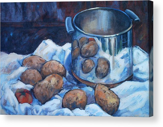 Still Life Acrylic Print featuring the painting  Pomme De Terre by Dianna Willman