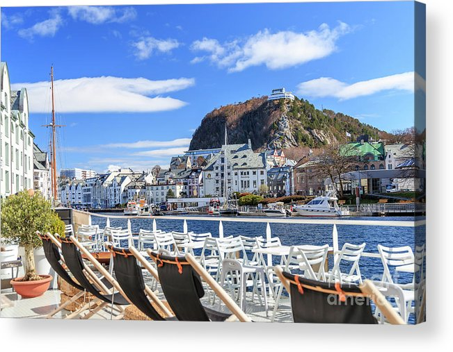Aalesund Acrylic Print featuring the photograph Aalesund City by Arild Lilleboe