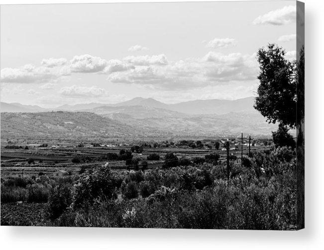 Monochrome Landscapes Acrylic Print featuring the photograph Abruzzo - An Italian Landscape by Andrea Mazzocchetti