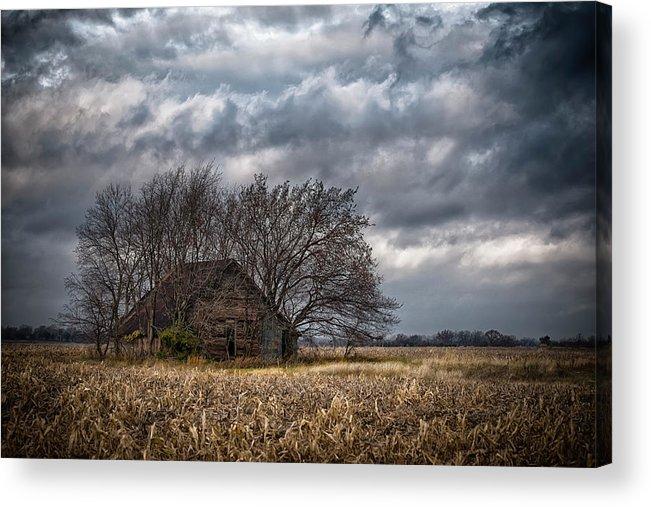 Farm Prints Acrylic Print featuring the photograph After Harvest by Garett Gabriel