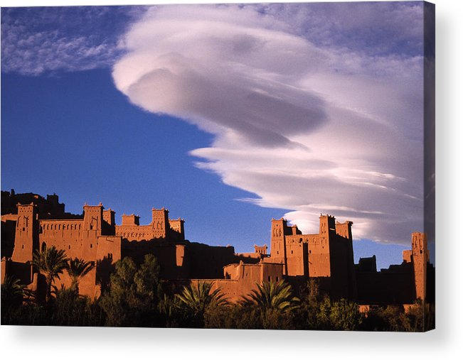 North Africa Acrylic Print featuring the photograph Ait Benhaddou Casbah by Michele Burgess