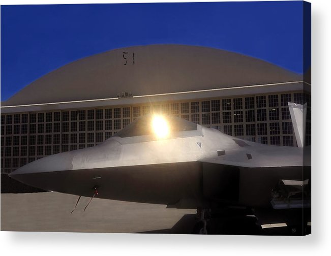 Area 51 Acrylic Print featuring the painting Area 51 by David Lee Thompson