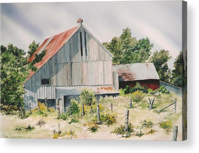 Barn Acrylic Print featuring the painting August 2nd by Jackie Mueller-Jones