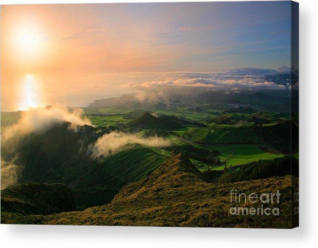 Coast Acrylic Print featuring the photograph Azores Islands Landscape by Gaspar Avila