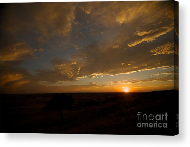 Badlands National Park Acrylic Print featuring the photograph Badlands Sunset by Chris Brewington Photography LLC