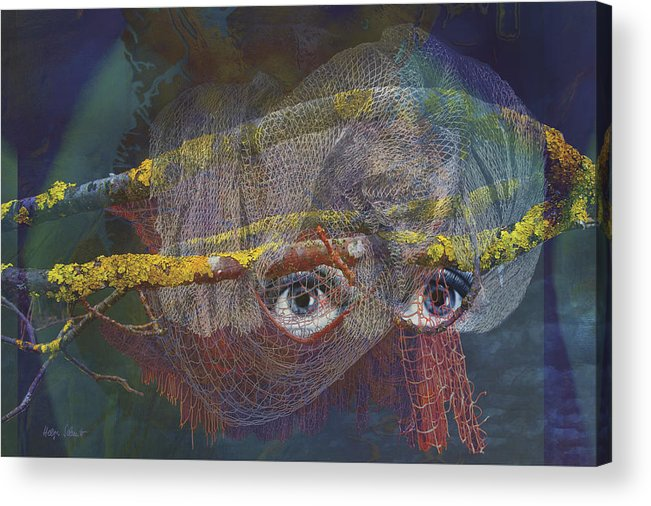 Fantasy Acrylic Print featuring the digital art Blowfish by Helga Schmitt