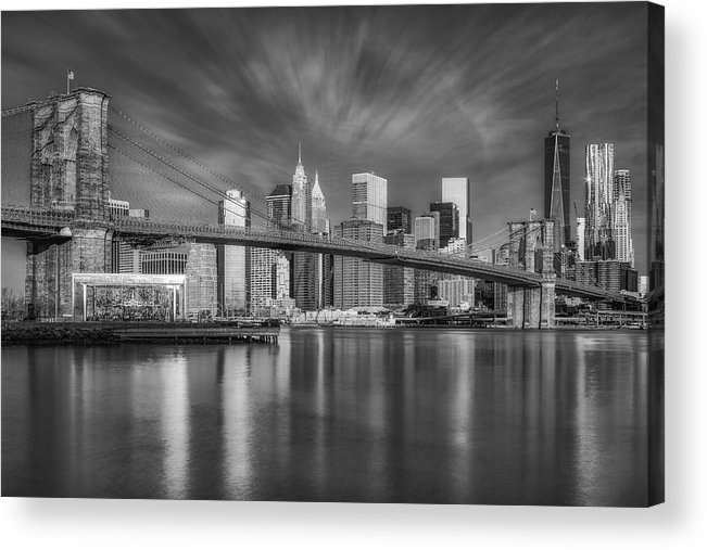 Brooklyn Bridge Acrylic Print featuring the photograph Brooklyn Bridge From Dumbo by Susan Candelario