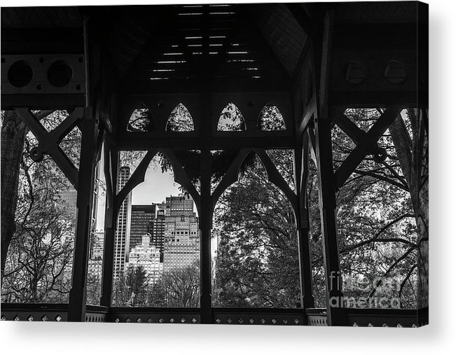 Symmetry Acrylic Print featuring the photograph Central Park by Edi Chen