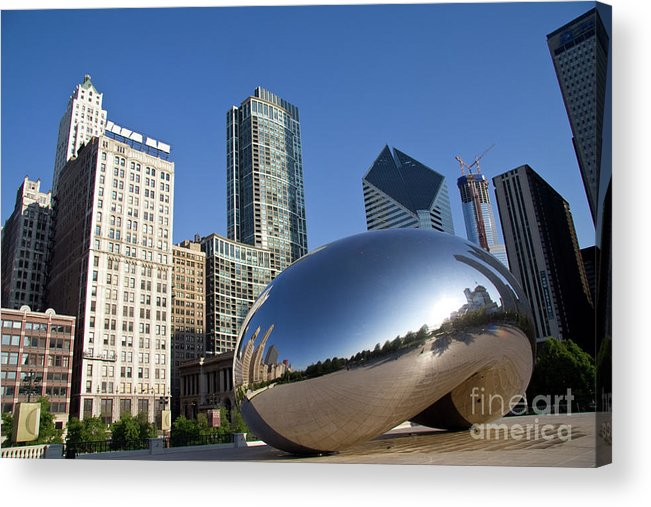 Bean Acrylic Print featuring the photograph Cloudgate Reflects by David Levin