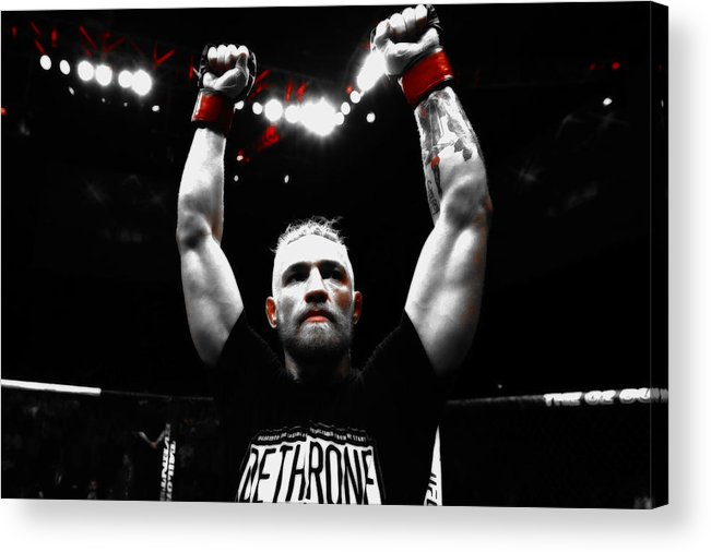 Conor Mcgregor Acrylic Print featuring the mixed media Conor Mcgregor The Ultimate Warrior by Brian Reaves