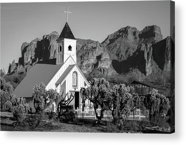 Superstition Acrylic Print featuring the photograph Elvis Chapel Arizona by Jon Manjeot