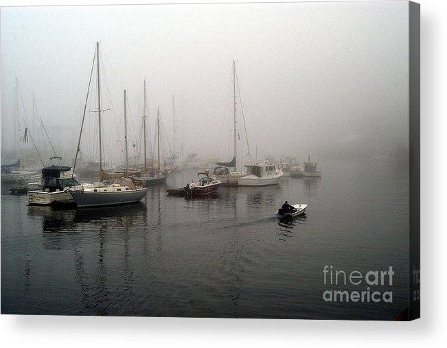 Ships Acrylic Print featuring the photograph Foggy Camden Harbor by Neil Doren