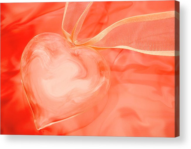 Heart Acrylic Print featuring the photograph Fragile Heart Valentine's Day Card by Carol Leigh