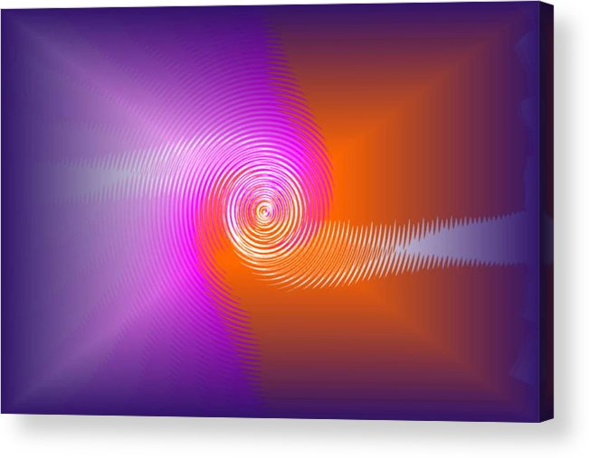 Acrylic Print featuring the digital art Fusion by Andreas R Wesener