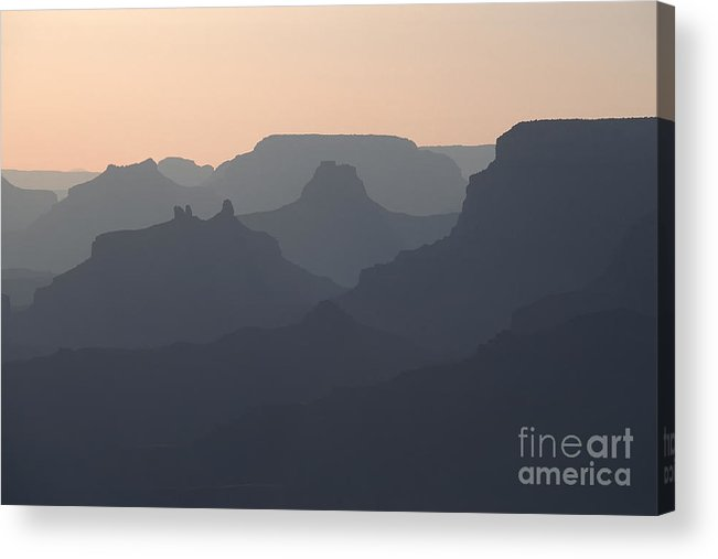 Grand Canyon Acrylic Print featuring the photograph Grand Canyon Pastel by Stan and Anne Foster
