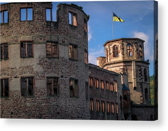 Altstadt Acrylic Print featuring the photograph Heidelberg Castle Heidelberger Schloss by Emanuel Pislaru