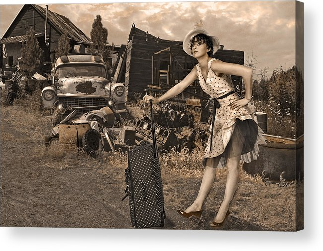 Landscape Acrylic Print featuring the photograph Leaving Home For Good..... by Jeff Burgess